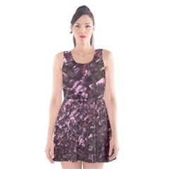 Pink Rainbow Shimmering Mother of Pearl Scoop Neck Skater Dress