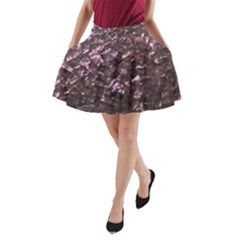 Pink Rainbow Shimmering Mother of Pearl A-Line Pocket Skirt