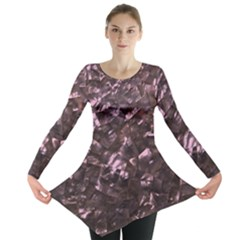 Pink Rainbow Shimmering Mother of Pearl Long Sleeve Tunic