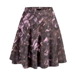 Pink Rainbow Shimmering Mother of Pearl High Waist Skirt