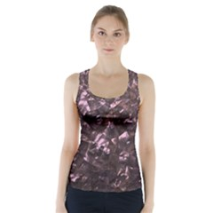 Pink Rainbow Shimmering Mother of Pearl Racer Back Sports Top