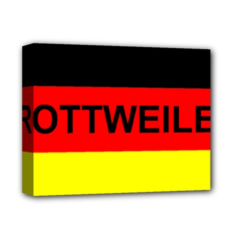 Rottweiler Name On Flag Deluxe Canvas 14  x 11