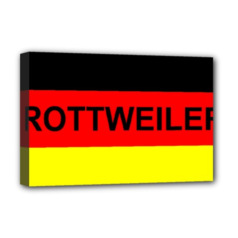 Rottweiler Name On Flag Deluxe Canvas 18  x 12