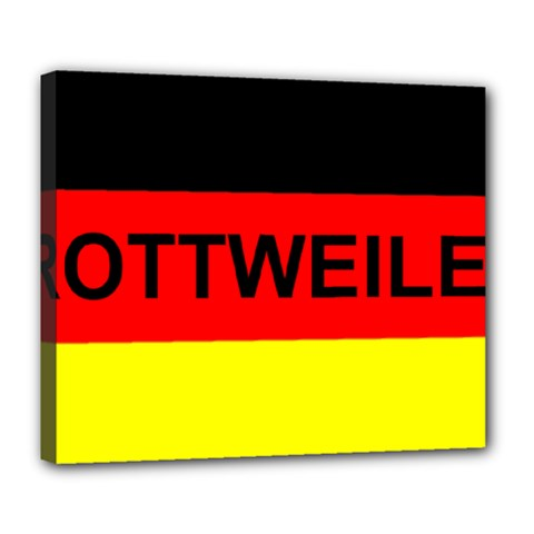 Rottweiler Name On Flag Deluxe Canvas 24  x 20
