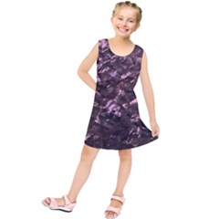 Pink Rainbow Shimmering Mother of Pearl Kids  Tunic Dress