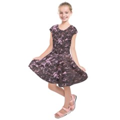 Pink Rainbow Shimmering Mother of Pearl Kids  Short Sleeve Dress