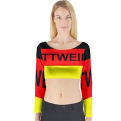 Rottweiler Name On Flag Long Sleeve Crop Top