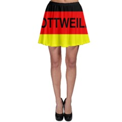 Rottweiler Name On Flag Skater Skirt