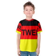 Rottweiler Name On Flag Kids  Cotton Tee