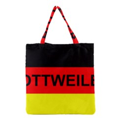 Rottweiler Name On Flag Grocery Tote Bag