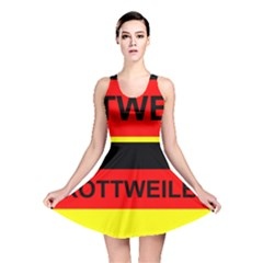 Rottweiler Name On Flag Reversible Skater Dress