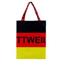Rottweiler Name On Flag Classic Tote Bag