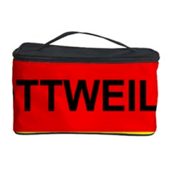 Rottweiler Name On Flag Cosmetic Storage Case