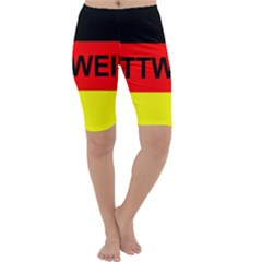 Rottweiler Name On Flag Cropped Leggings