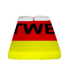 Rottweiler Name On Flag Fitted Sheet (Full/ Double Size)