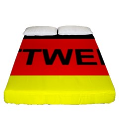 Rottweiler Name On Flag Fitted Sheet (Queen Size)