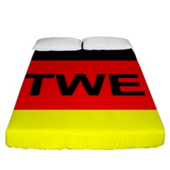 Rottweiler Name On Flag Fitted Sheet (King Size)