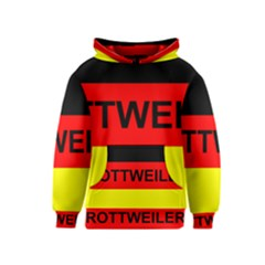 Rottweiler Name On Flag Kids  Pullover Hoodie