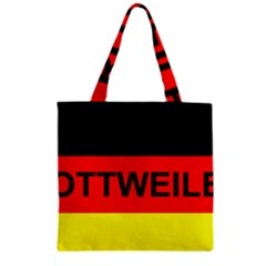 Rottweiler Name On Flag Zipper Grocery Tote Bag