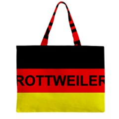 Rottweiler Name On Flag Zipper Mini Tote Bag