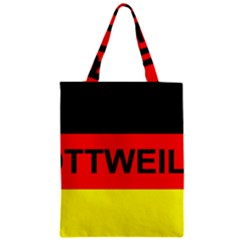 Rottweiler Name On Flag Zipper Classic Tote Bag