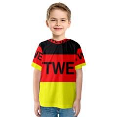 Rottweiler Name On Flag Kids  Sport Mesh Tee