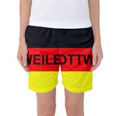 Rottweiler Name On Flag Women s Basketball Shorts