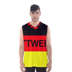 Rottweiler Name On Flag Men s Basketball Tank Top
