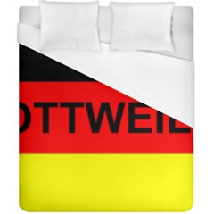 Rottweiler Name On Flag Duvet Cover (California King Size)