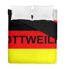 Rottweiler Name On Flag Duvet Cover Double Side (Full/ Double Size)
