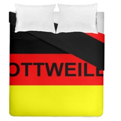 Rottweiler Name On Flag Duvet Cover Double Side (Queen Size)