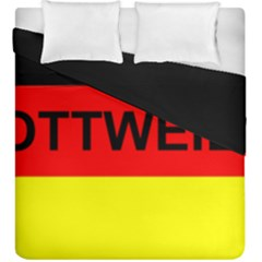 Rottweiler Name On Flag Duvet Cover Double Side (King Size)