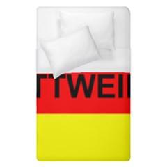 Rottweiler Name On Flag Duvet Cover (Single Size)