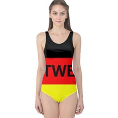 Rottweiler Name On Flag One Piece Swimsuit