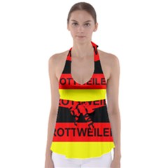 Rottweiler Name On Flag Babydoll Tankini Top