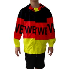 Rottweiler Name On Flag Hooded Wind Breaker (Kids)