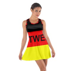 Rottweiler Name On Flag Cotton Racerback Dress