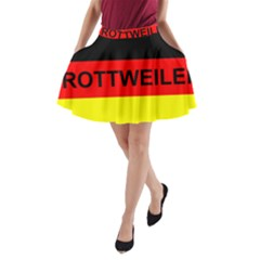Rottweiler Name On Flag A-Line Pocket Skirt