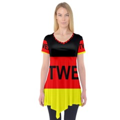 Rottweiler Name On Flag Short Sleeve Tunic