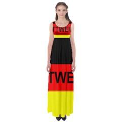Rottweiler Name On Flag Empire Waist Maxi Dress