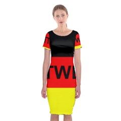 Rottweiler Name On Flag Classic Short Sleeve Midi Dress