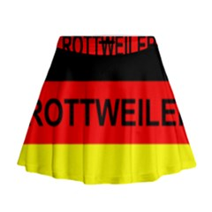 Rottweiler Name On Flag Mini Flare Skirt