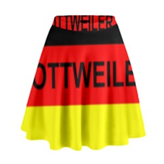 Rottweiler Name On Flag High Waist Skirt