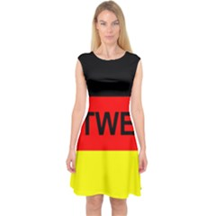 Rottweiler Name On Flag Capsleeve Midi Dress