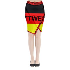 Rottweiler Name On Flag Midi Wrap Pencil Skirt