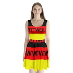 Rottweiler Name On Flag Split Back Mini Dress