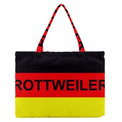 Rottweiler Name On Flag Medium Zipper Tote Bag