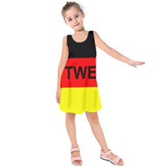 Rottweiler Name On Flag Kids  Sleeveless Dress