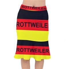 Rottweiler Name On Flag Mermaid Skirt