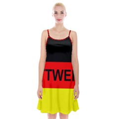 Rottweiler Name On Flag Spaghetti Strap Velvet Dress